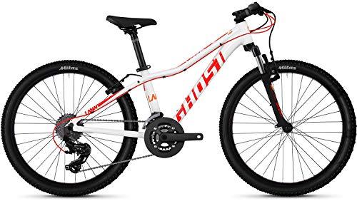 Ghost Lanao 2.4 AL W 24R Mädchen Mountain Bike 2019 (24 Zoll, Star White/Neon Red/Juice Orange)