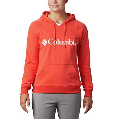 Columbia Sweat à Capuche en éponge avec Logo pour Femme, Femme, 1886001, Coquelicot Lumineux, L