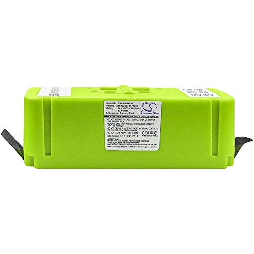4000mAh Replacement Battery for iRobot iRobot Roomba 614, Roomba 615, Roomba 640, Roomba 652, Roomba 665, Roomba 670, Roomba 671, Roomba 675, Roomba 677, Roomba 680, Roomba 681 and other models