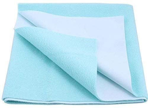 Ketsaal Medium Cotton Waterproof and Reusable Mat | Bed Protector | Absorbent Dry Sheets | Water Proof Baby Sheet - Blue