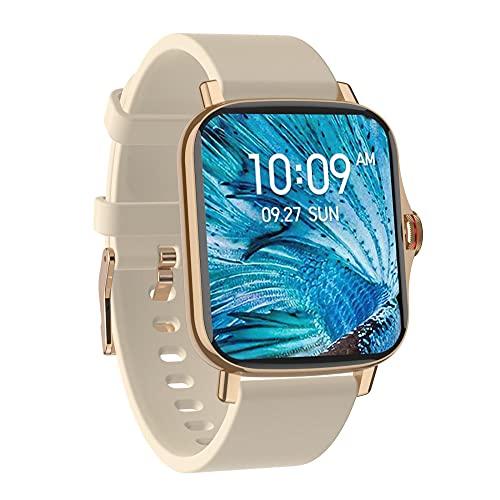 Reloj Inteligente Mujer Hombre,Reloj de monitorización de la presión arterial con frecuencia cardíaca, pulsera deportiva de trayectoria escalonada-E,Pulsera de Actividad Inteligente Reloj Deportivo