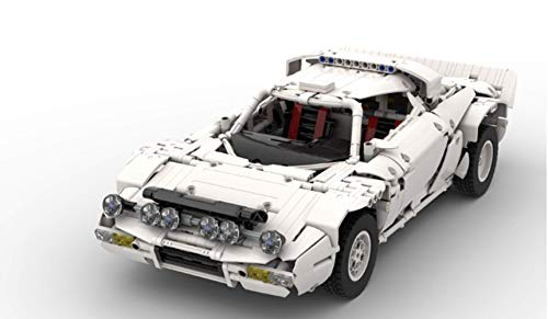 RC Controle Car Building Blocks Toy Kit, Lancia Rally Car From1974 Bouwstenen DIY Toys, MOC Kleine Bouwsteen Puzzel Toy