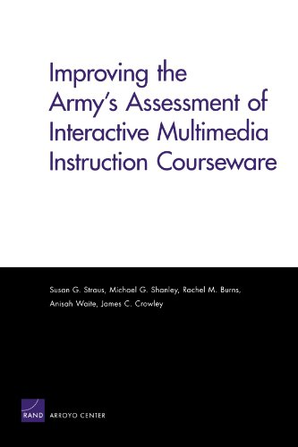 Compare Textbook Prices for Improving the Army's Assessment of Interactive Multimedia Instruction Courseware 2009  ISBN 9780833047274 by Shanley, Michael G.,Crowley, James C.,Straus, Susan G.,Burns, Rachel M.,Waite, Anisah