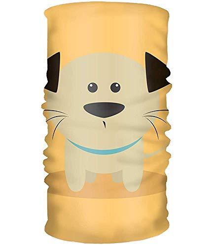 Voxpkrs Bandana Women' Soft Stretch Headband Cute Cartoon Dog Head Wrap Turban Scarf