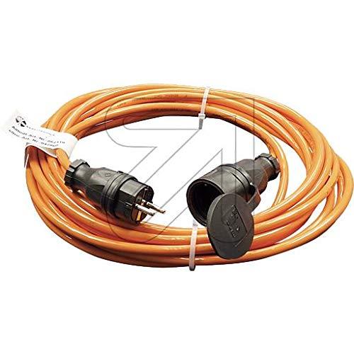 Colours-Manufaktur Verlängerungskabel für den Außenbereich/Innenbereich * Verschiedene Modelle, Farben und Längen wählbar * (orange Schuko (IP 44 - Außen), 5 m)