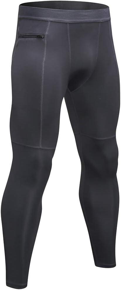 Shengwan 3 Piezas Leggings 3//4 Hombre Deportivos Mallas T/érmicos Correr Gimnasio Pantalones de Compresi/ón