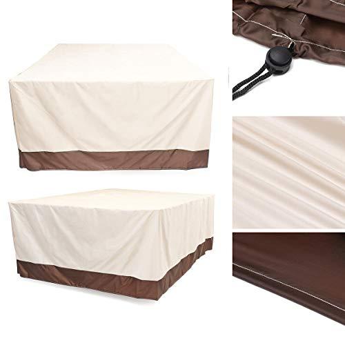 FEIYI Cubierta impermeable para muebles de jardín, jardín, patio, mesa de ratán al aire libre, protección contra rayos UV, polvo y lluvia