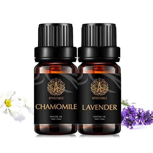Aphrosmile Lavender Chamomile Essential Oil - 100% Pure Lavender Chamomile Oil, Organic Therapeutic-Grade Aromatherapy Essential Oil 10mL/0.33oz