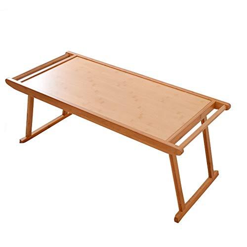 KEKOR Mesa plegable, soporte de bambú para portátil, mesa plegable, se puede servir en la cama o utilizar como una mesa de TV, bandeja para ordenador portátil (tamaño: 76 x 46 x 29 cm)