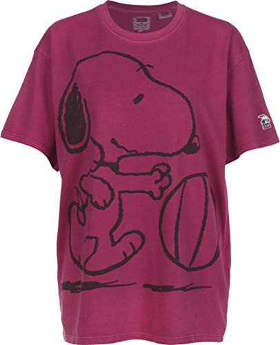 Levis x Peanuts Graphic Relaxed Oversize Tee Snoopy Burgundy M
