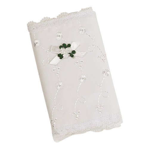 Elegant Baby  White  Eyelet Covered Heirloom Bible