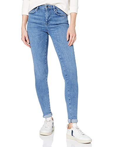 ONLY Damen ONLPOWER MID Push UP SK REA2981K NOOS Skinny Jeans, Blau (Light Blue Denim Light Blue Denim), 36/L32 (Herstellergröße: S)