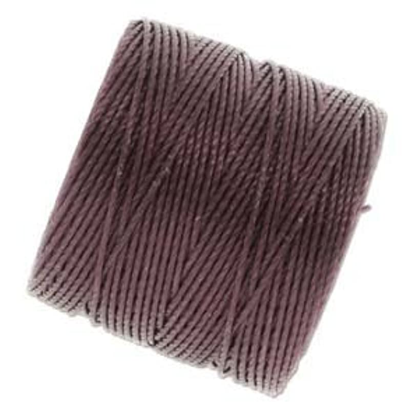 Bead Cord Nylon Superlon #18 Twisted 77 Yard Spool Bobbin EGGPLANT