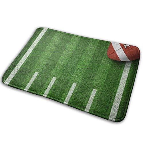 SESILY Alfombra rectangular de fútbol americano Yard Line, antideslizante, para decoración del hogar, 40 x 60 cm