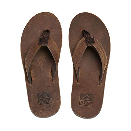 Reef Men's Voyage LE Sandal, Dark Brown, 11