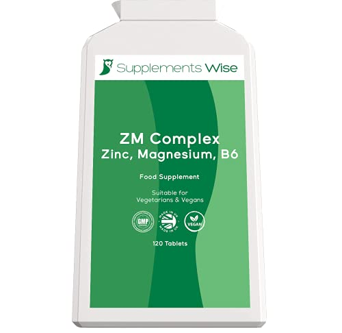 Zinc, Magnesium and Vitamin B6 - 120 Tablets - Muscle Recovery Supplement -...