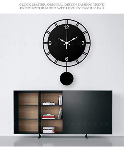 Décoratif Horloge Murale Horloge Contemporaine Et Salon Contracté Atmosphère Créatrice De La Mode Personnalité Calme Chambre Nouveau Quartz Pendule Horloge (Couleur : A)