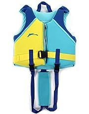 NYWENY Traje de baño para niños, chaleco flotante, chaqueta Buoyancy, traje de baño para niños, traje de baño para niñas