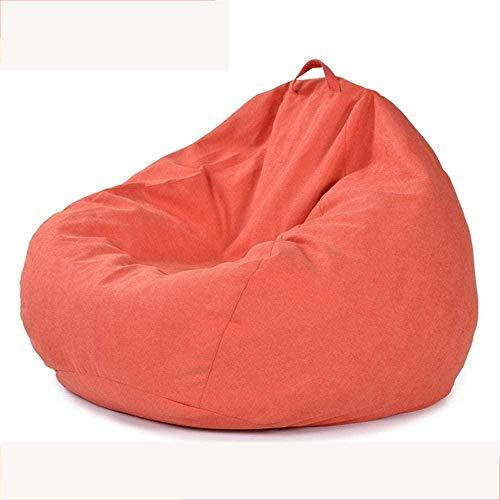 WYJW Home Large Highback Sitzsack Stuhl, Indoor Outdoor Wasserdicht Bequeme Sitzsäcke Lounge Chair Lazy Sofa für Erwachsene und Kinder-EVP L_Orange