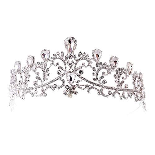Lurrose diadema barroca y corona diadema corona nupcial tiara de cristal de...