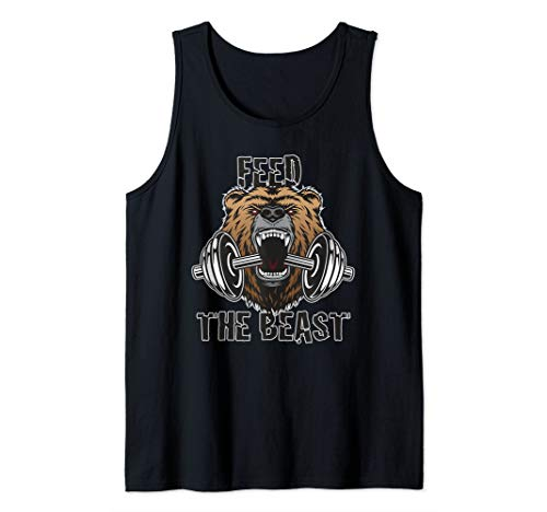 Motivational Fitness Feed The Beast Gym Workout Training Tank Top