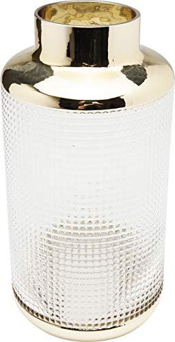 Kare Design Vase LA Noble 30cm, Glasvase für das Wohnzimmer, Dekoratives Accessoire aus Glas, verschiedene Größen erhältlich (H/B/T) 30x15x15cm