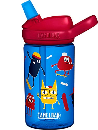 Camelbak Eddy Botellas para niños, monstruos de patinaje, 0,4 litros/14 oz
