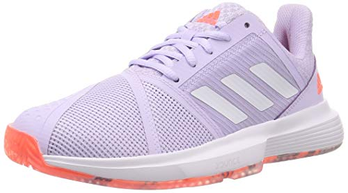 Adidas CourtJam Bounce W, Zapatos de Tenis para Mujer, Signal Coral/Purple Tint/Tech...