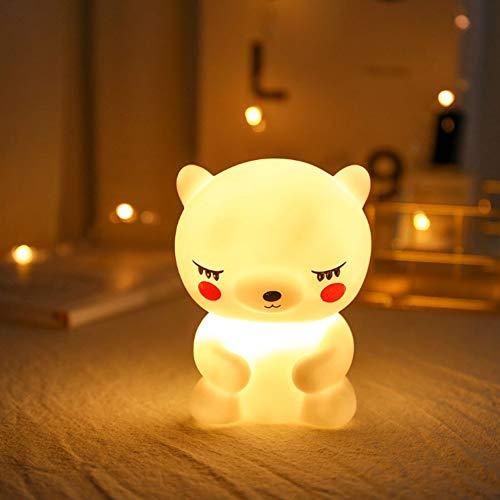 lampada orsetto Lampada da Notte in Silicone Lampada da Notte a LED Resistente e sicura Luce da Notte a Orsetto per Ragazze e Donne Camera da Letto Neonati Espositori per Fami