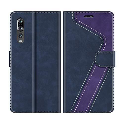 MOBESV Handyhülle für Huawei P20 Pro Hülle Leder, Huawei P20 Pro Klapphülle Handytasche Case für Huawei P20 Pro Handy Hüllen, Dunkelblau/Violett