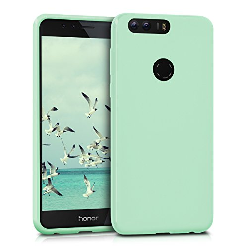 kwmobile Hülle kompatibel mit Honor 8/8 Premium - Hülle Silikon - Soft Handyhülle - Handy Hülle in Mintgrün matt