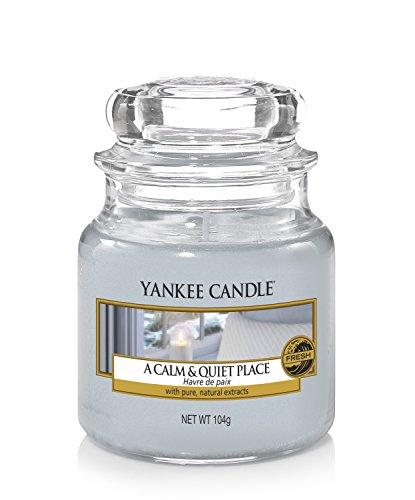 Yankee Candle Candela Piccolo Vaso, Un Posto Calmo e Tranquillo