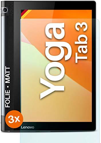 moex Protector de pantalla mate compatible con Lenovo Yoga Tab 3 10 – lámina antirreflectante, protector de pantalla mate – 3 unidades
