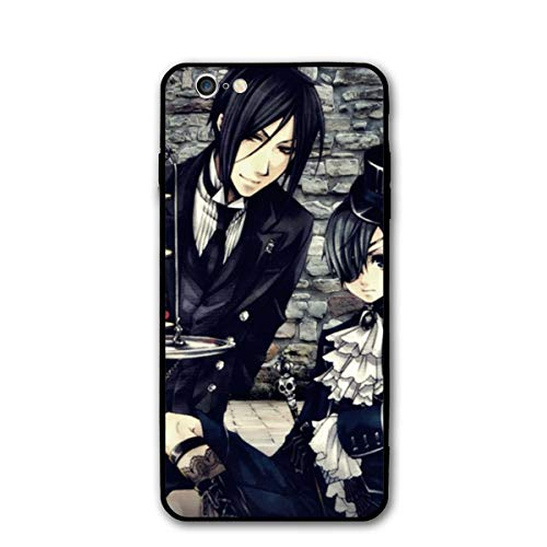 Weretlyop Black Butler Black Cool Soft TPU Raised Edge Accurate Cutouts Thin Cover Case iPhone 6/6s Cases