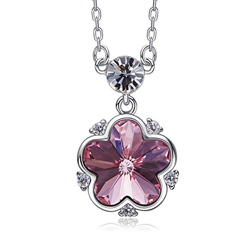 DEQIAODE Swarovski Elements Frauen Halskette aus 925er Sterling Silber
