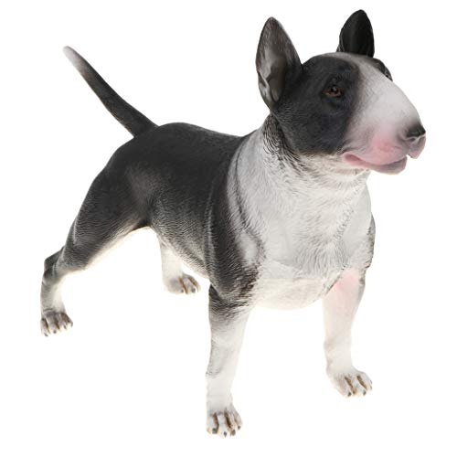 Mini Bulldogge Dekofigur Gartenfigur Hund Modell Tierfigur als Geschenk, aus Plastik