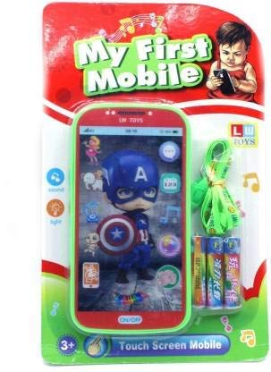 SRK Digital Mobile Phone with Touch Screen Feature with Sound Cartoon Characters Musical Mobile Phone Toy Pink Mobile (Pack of 1)