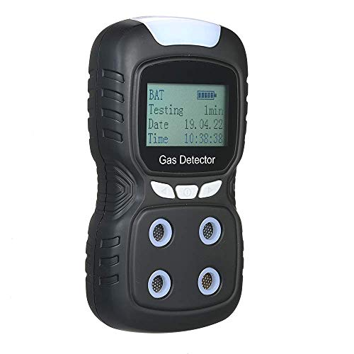 BXU-BG 4 in 1-Gas-Detektor, beweglichen Multi Gas Monitor-Digital-Hand Toxic Gas Kohlenmonoxid-Detektor Schwefelwasserstoff-Gas-Tester mit LCD-Display