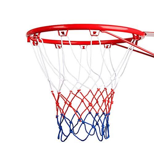 TINAYAUE Red de baloncesto de alta resistencia mejorada con 12 bucles estándar para todo tipo de clima, interior y exterior, anti látigo, red de baloncesto profesional (red gruesa mejorada)