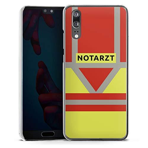 DeinDesign Hard Case kompatibel mit Huawei P20 Schutzhülle transparent Smartphone Backcover Beruf Notarzt Uniform