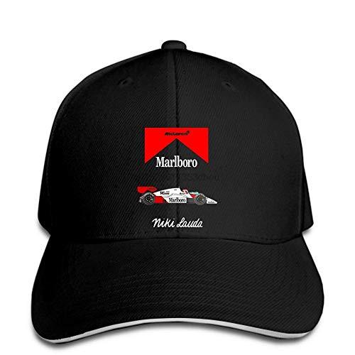 Fanxp Niki Lauda Mclaren Mp4 2 Schwarze Baseballmütze Snapback Hat Peaked