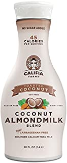 Califia Farms Toasted Coconut Almondmilk Blend, 48 Oz (Pack of 8) | Dairy Free | Plant Based | Nut Milk | Vegan | Non-GMO