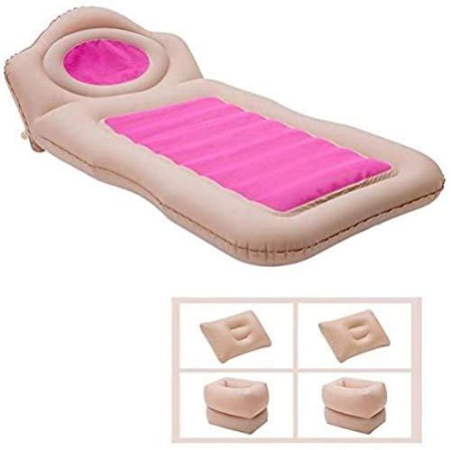 HongLianRiven Reisebett Autoreisebett Camping Bed Auto Matratze Aufblasbare Auto Matratze Luftmatratze Autozubehör Sofa Rosa 5-19