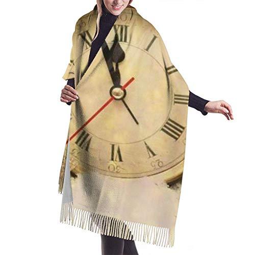 Jingliwang Bufandas Abrigo Chal Warm Women Blanket Scarf Creative Personality Alarm Clock Stars Stone Art Stylish Blanket Oversized Cozy Scarf Wrap Shawl