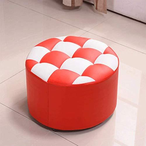 HLY Wohnzimmer- und Schlafzimmer-Hocker, modisch, kleine Bank, niedriger Couchtisch, Sofa, Wohnzimmer, modisch, kreativer Massivholzschuh, A