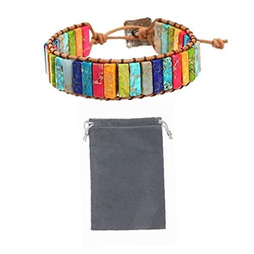 7 Chakra Bracelet Adjustable Bohemian Jewellery Braided Bracelets Handmade Chakra Stone Healing Crystal Jewelry for Womens Girls