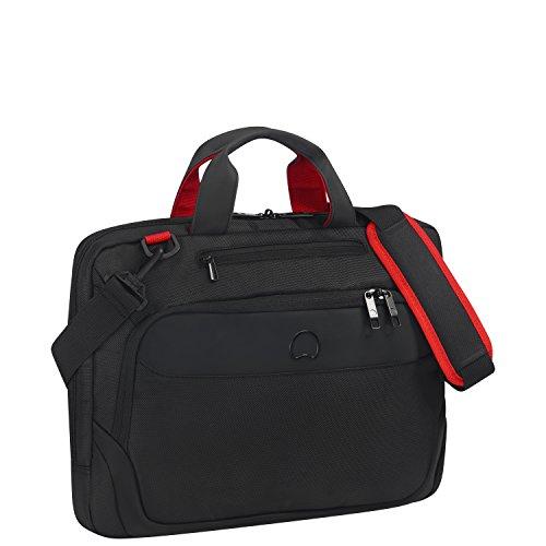 DELSEY PARVIS PLUS laptop rolkoffer, 41 cm, 11 liter, zwart (Noir)