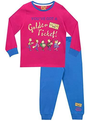 Roald Dahl Pijamas de Manga Larga para niñas Charlie y la fábrica de Chocolates Rosa 5-6 Años