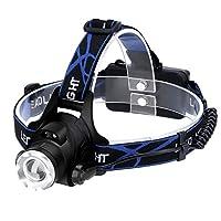 ヘッドランプ懐中電灯LED充電式ヘッドライト防水 - モーションセンサー, 説明したように