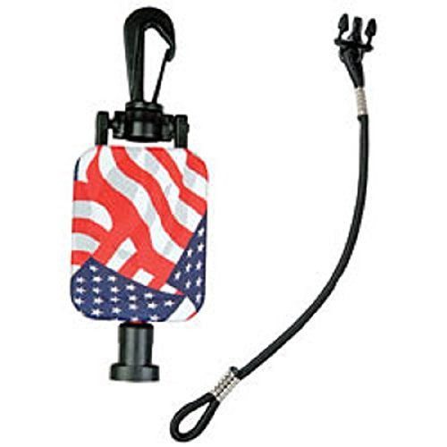 Hammerhead Industries Gear Keeper CB MIC KEEPER Retractable Microphone Holder RT2-4212 - Heavy-Duty Snap Clip Mount, Adjustable Mic Lanyard and Hardware Mounting Kit - Made in USA, Stars and Stripes